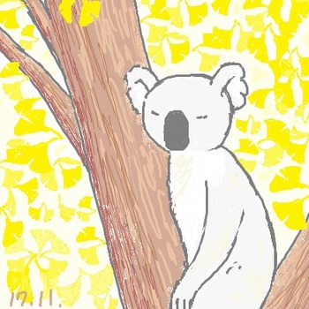 snsコアラとイチョウの木.jpg