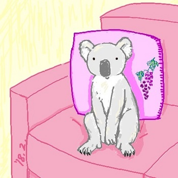 snsコアラとソファーの上.jpg