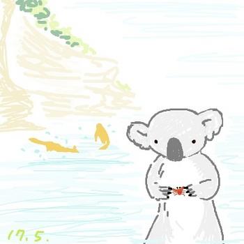 snsコアラと小さいカニ.jpg
