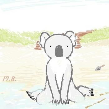 snsコアラと浜辺.jpg