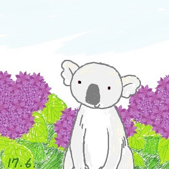 snsコアラと紫のお花.jpg